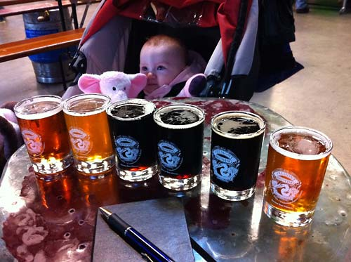 Fremont Brewing, and a baby