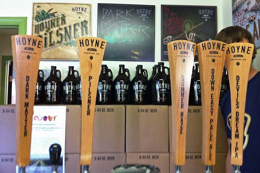 Taps at Hoyne Brewing