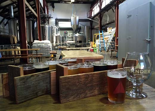 the view down to the Wander altar-- i mean, brewhouse