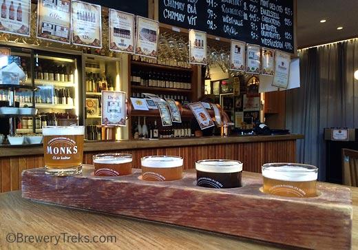 monks cafe tasters